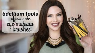 getlinkyoutube.com-Bdellium Tools Eye Makeup Brushes // Review & MAC Dupes