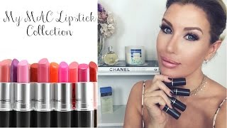 getlinkyoutube.com-My MAC Lipstick Collection: 41 shades SWATCHED!