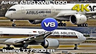 getlinkyoutube.com-Airbus A350-XWB-1000 versus Boeing 777-300ER [4K]
