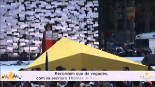 Message to the world at Catalan independence demonstration: 'We want our own independent state'