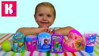 getlinkyoutube.com-Шопкинс Холодное сердце Барби сюрпризы с игрушками распаковка surprise unboxing
