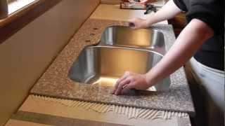 getlinkyoutube.com-Lazy Granite Kitchen Countertop Installation Video