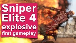 getlinkyoutube.com-Here's your first look at Sniper Elite 4 gameplay