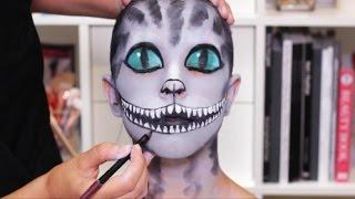 getlinkyoutube.com-Cheshire Cat Halloween Makeup Tutorial   Real Techniques