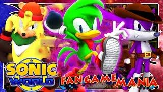 getlinkyoutube.com-Fan Game Mania - Sonic World R7 Part 8 - Team Hooligan (Custom Team) 4K 60FPS