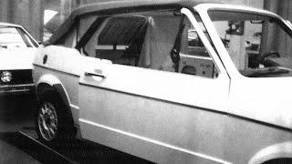 getlinkyoutube.com-How it's made VW Golf Mk1 cabriolet-convertible. Unique experimentals Mk1 since 70s. Rabbit for USA.