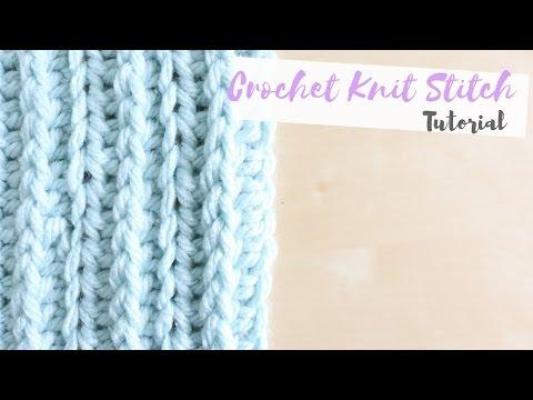 CROCHET: How to crochet the knit stitch | Bella Coco