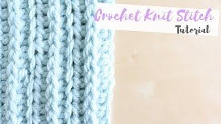 getlinkyoutube.com-CROCHET: How to crochet the knit stitch | Bella Coco