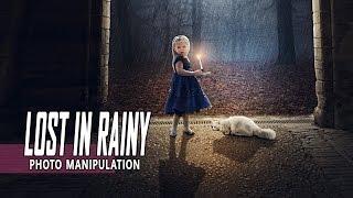 getlinkyoutube.com-Lost In Rainy - Photoshop Manipulation Tutorial Effect