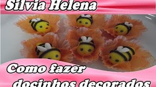 como fazer docinhos modelados - abelha - POR SILVIA HELENA
