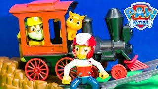 getlinkyoutube.com-PAW PATROL Nickelodeon Paw Patrol Rubble Train Ride at Magic Kingdom Toys Video Parody