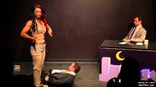 getlinkyoutube.com-Lisa Marie Varon standing on a man (The Late Live Show)