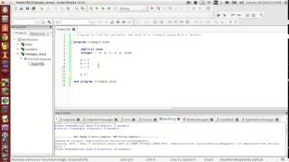 Fortran Programming Tutorials (Revised) : 005 : Area of a triangle + Basic operators