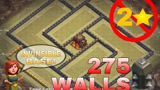 getlinkyoutube.com-Clash of Clans - INVINCIBLE TH10 War Base | NEW Update *275 WALLS* | ANTI 2 STAR BASE