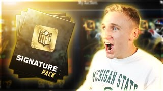I GOT THE BEST PULL... TWICE!!? LUCKIEST MADDEN PLAYER ALIVE! Signature Packs Opening Madden Mobile
