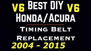 getlinkyoutube.com-04 - 15 V6 Honda Acura Timing Belt Replace |  Accord | Ridgeline | Pilot | TL | Odyssey | Pilot
