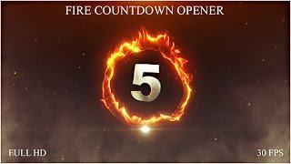 getlinkyoutube.com-Fire Countdown Opener — After Effects project | Videohive template