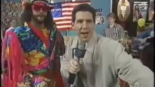 Macho Man Randy Savage and Todd Pettengill host WrestleMania X edition of Mania (03-19-1994)