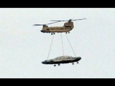 UFO Sightings Chinook helicopter Airlifts Unidentified Object! Is this a Flying Saucer?