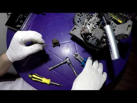 Замена щеток генератора  форд фокус 2 1.8