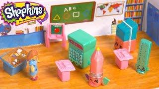 getlinkyoutube.com-Special Edition Season 3 Shopkins Go Back To School - Teacher & Classroom Play Video Cookieswirlc