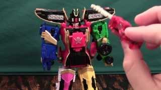 getlinkyoutube.com-Power Rangers Super Megaforce Legendary Megazord Review (Kaizoku Sentai Gokaiger Gokai-Oh)