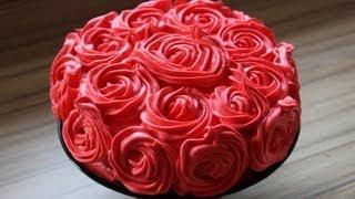 getlinkyoutube.com-Muttertagstorte Rosen torte aus den resten meiner Minnie Mouse Torte - Krümel Rosentorte