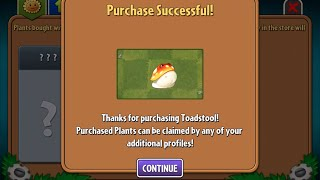 HACK Plants vs Zombies 2 : How to Unlock Toadstool without Spending $$$