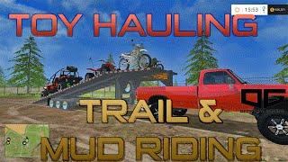 getlinkyoutube.com-Farming Simulator 2015- Mudding, Trail Riding, & Hauling!