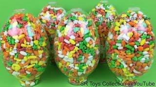 getlinkyoutube.com-Candy Surprise Eggs Peppa Pig Minnie Mouse Monster High Disney Frozen Olaf Blind Bags TMNT Kinder