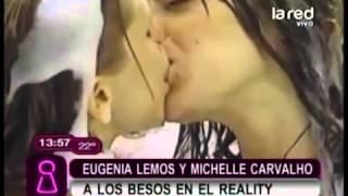getlinkyoutube.com-Eugenia Lemos besó a Michelle Carvalho en el reality