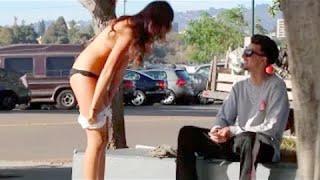 Girl Strips NAKED for MONEY GONE SEXUAL Gold Digger Prank Kissing Prank Hot Girls Nude Prank