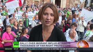 getlinkyoutube.com-'Stop Invasion!' Thousands protest at anti-immigration rally in Italy
