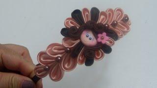 getlinkyoutube.com-Como decorar balacas con flores de tela satina o raso, video 577