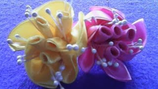 getlinkyoutube.com-DIY-Cara membuat bunga mawar bergulung dari pita satin- How to make rolled roses of satin ribbons
