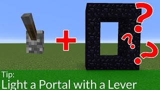 The Best Way to Light Portals In Minecraft
