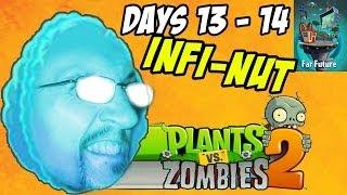 getlinkyoutube.com-Lets Play Plants vs. Zombies 2: Far Future Days 13 & 14 (INFINUT)