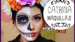 getlinkyoutube.com-Maquillaje Mitad catrina / Mitad Mujer