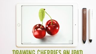 getlinkyoutube.com-Drawing on Ipad: How to draw Cherries with Paper by 53