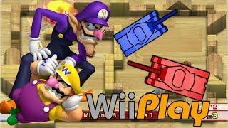 getlinkyoutube.com-Wario and waluigi of Wii Play Tanks HD