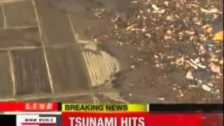 getlinkyoutube.com-UFO Tsunami Japan strange Object leaving sea