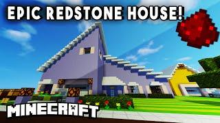 getlinkyoutube.com-IMPRESSIVE REDSTONE MODERN HOUSE - (Fully Functional Minecraft Redstone House!)