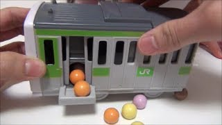 getlinkyoutube.com-Pla-rail Chocolate プラレール山手線チョコレートおもちゃ