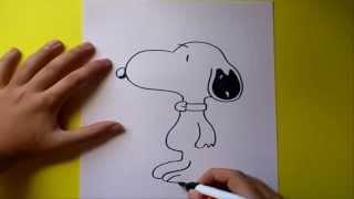 getlinkyoutube.com-Como dibujar a snoopy paso a paso | How to draw snoopy