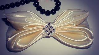 Бант- Заколка  Своими Руками МК.  /DIY /KANZASHI / Bow Ribbons /Make Hair Bow. /Flower / Tutorial /
