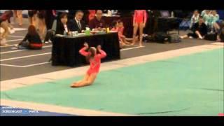 getlinkyoutube.com-Gymnastics floor audio swaps annie,hayley,katie and liv