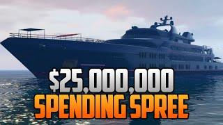 getlinkyoutube.com-GTA 5 Online $25,000,000 SPENDING SPREE! Buying All Cars, Super Yachts, Houses & More!
