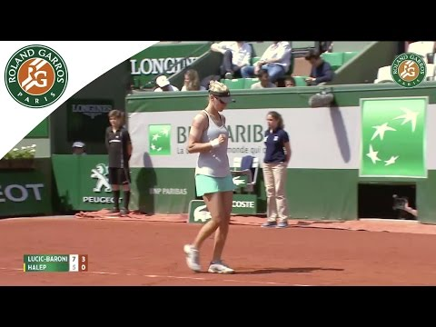 S. Halep v. M. Lucic-Baroni 2015 French Open Women`s Highlights / R64
