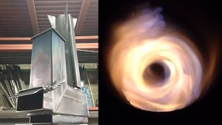 getlinkyoutube.com-3次燃焼サイクロンロケットストーブ~Tertiary combustion vortex rocket stove~