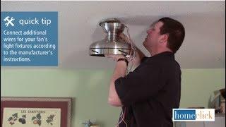 getlinkyoutube.com-How to Replace a Ceiling Fan